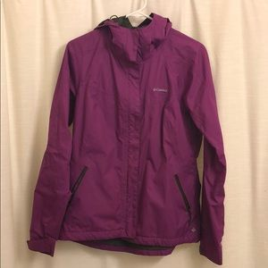 Purple Columbia rain jacket